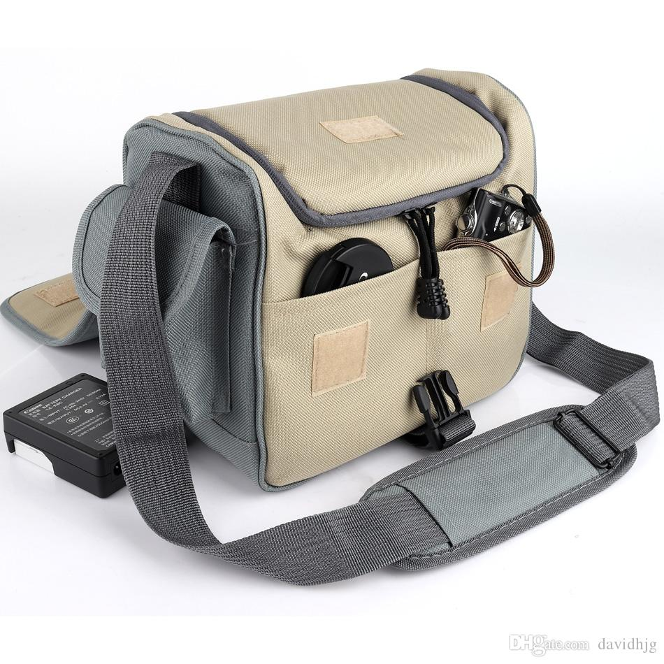 Genuine Leather Camera Lens Case Shoulder Briefcase DSLR Sony Canon Nikon Bag