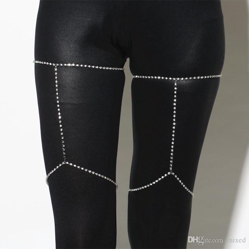 1 шт. Сексуальная нога цепи женщин горный хрусталь браслет для женщин рок-цепь 2017 клуб ночные аксессуары