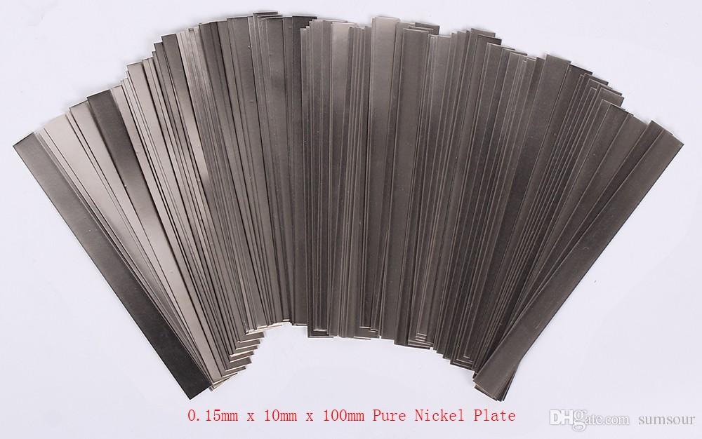 0.15mm x 10mm x 100mm 100pcs Pure Nickel Plate Strap Strip Sheets 99.96% for Battery Spot Welding Machine Welder Equipment Tools