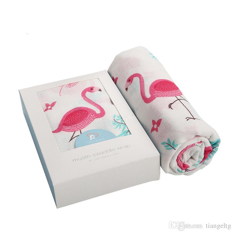 Ins Kundak Battaniye MUSLIN Çift katmanlı Bambu 47 * 47 'Banyo Havlusu Lif Atkı Yumuşak ve Hipoalerjenik Nefes Bebek için Erkek / Bebek Kız