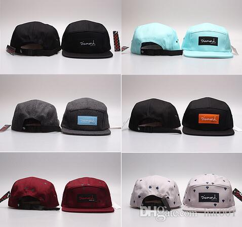 Cheap Wholesale-20 Style Five 5 panel diamond snapback caps hip-hop Baseball cap flat hat hats for men casquette gorras planas bone aba reta