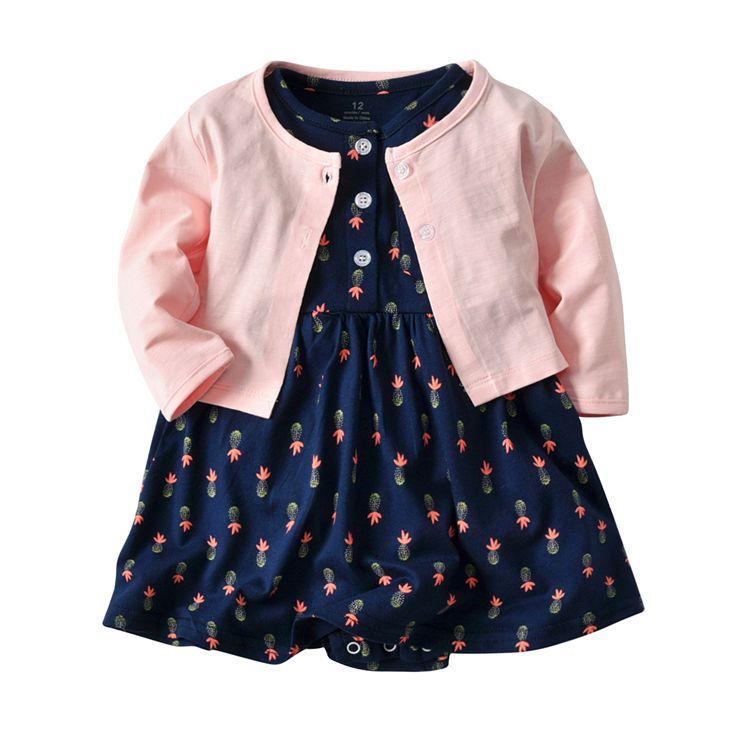 Compre Navidad Recién Nacido Juegos De Vestir Para Niñas Bebés 6m 2t Princesa Infantil Vestido Romper Cardigan Trajes Trajes Para Niños Hb05 A
