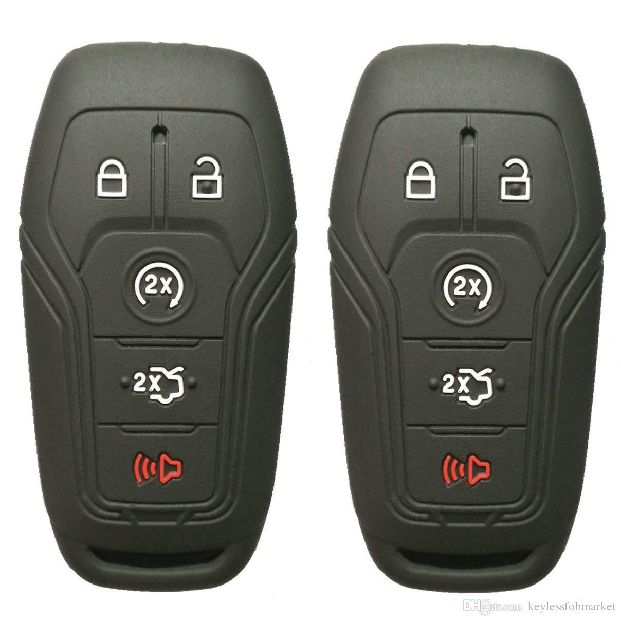 Protective Silicone Rubber Keyless Remote Fob Cover Case Jacket for GM Black
