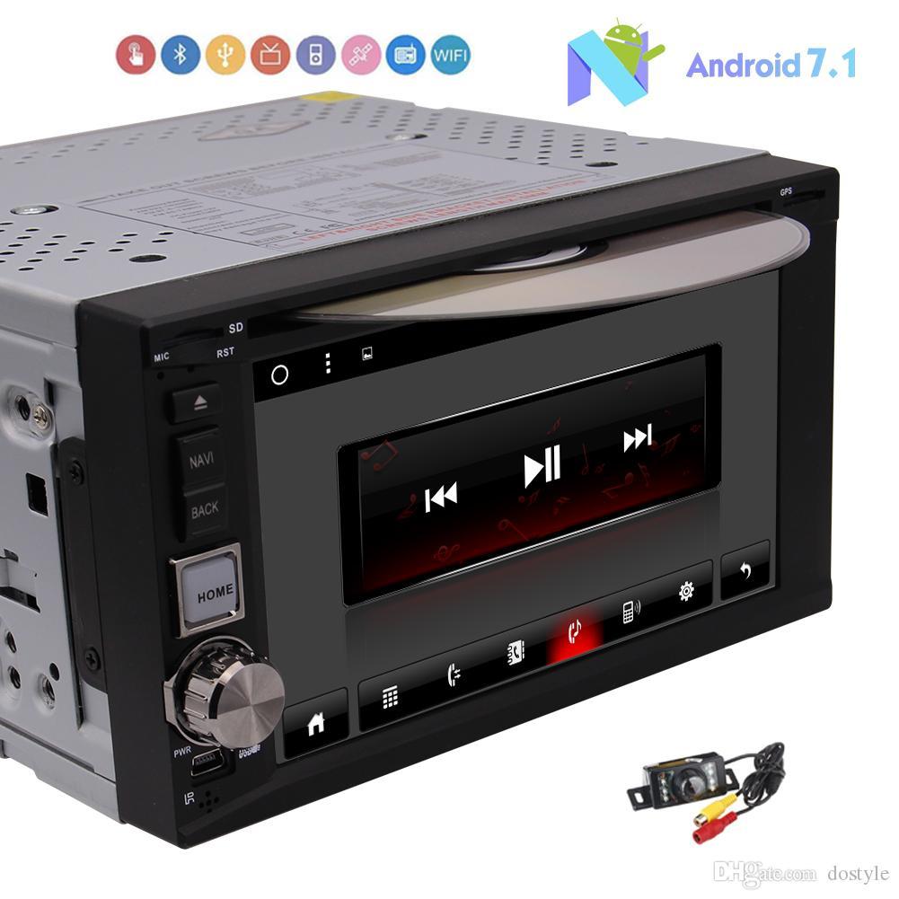 Android 7.1 Octa Core Car Sistema de reproductor de DVD Doble 2 Din Automóvil Sistema estéreo en el tablero Navegación GPS Unidad Unidad Autoradio Bluetooth Video