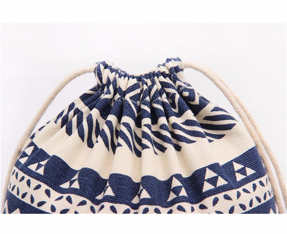Borsello con styling a strisce con styling nazionale Borsello per shopping per viaggiare come regalo incantevole S M L Size Travel Bag -
