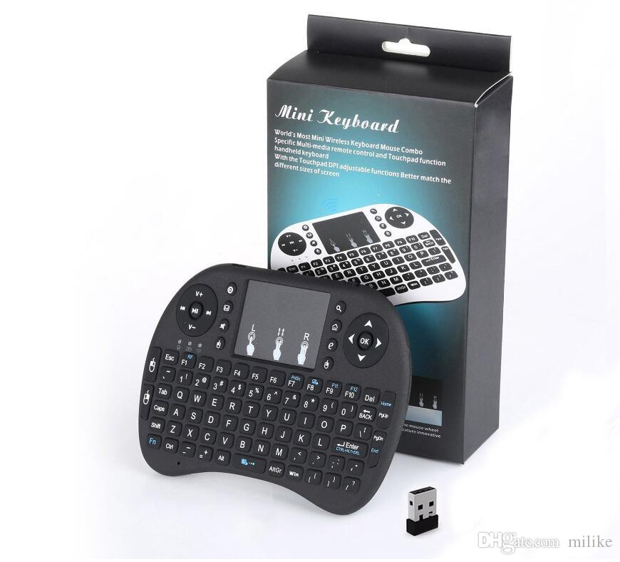 2.4g Wireless I8 Fly Fly Souris Mini Clavier Télécommande Touchpad Handheld Clavier Handmarçon Airmouse pour TV Box PC Tablet Mini PC