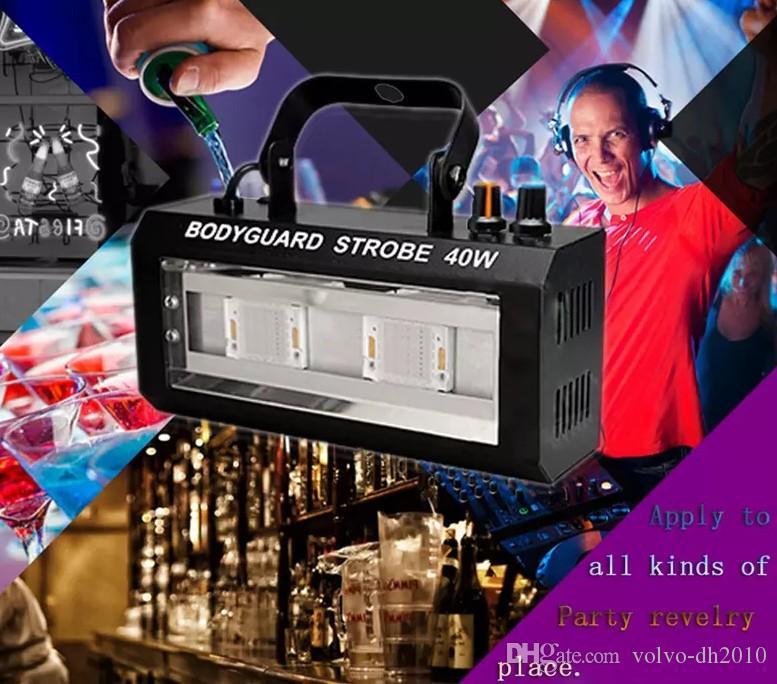 دي جي معدات ستروب ضوء فلاش LED 40W دي جي الأضواء المرحلة حزب الإضاءة الصوت ديسكو للرقابة للحزب عيد الميلاد هالوين LLFA