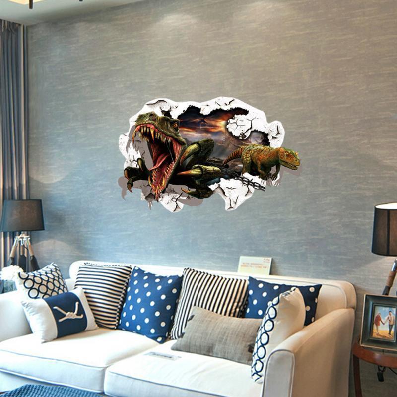 3D عرض ديناصور غرفة الاطفال ديكور PVC الجدار ملصق