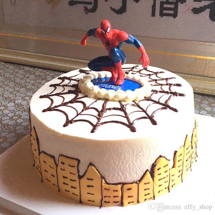 Superb 2020 Cartoon Spiderman Cake Hat Boy Party Cupcake Toppers Picks Funny Birthday Cards Online Unhofree Goldxyz