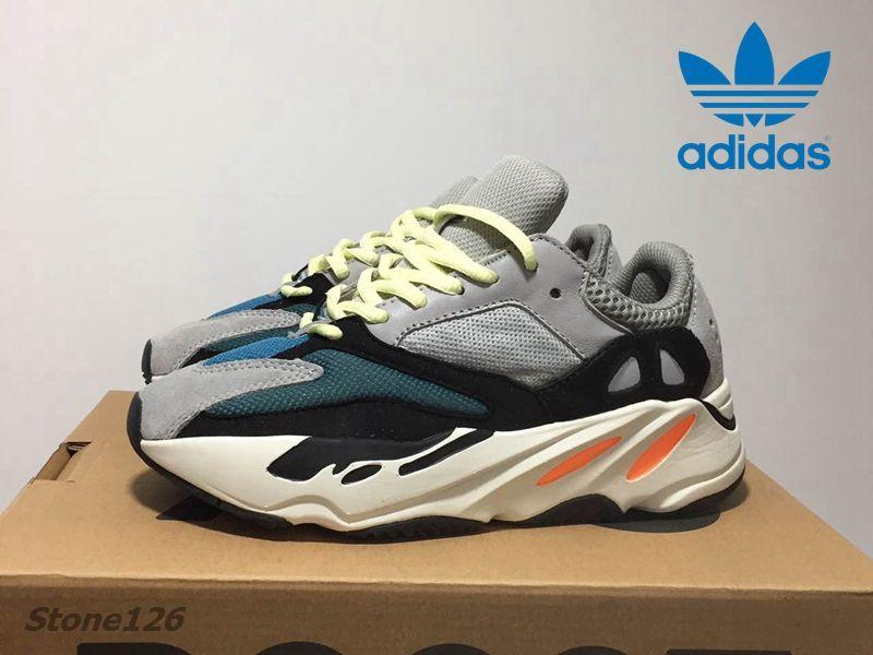 new style 7cbb9 76f4e Kids Adidas Yeezy Boost 700 Wave Runner Grey White Orange Og Boy Girls  Running Shoes Sport Children Trainer Kanye West 700 Boosts Sneakers Best  Trail ...