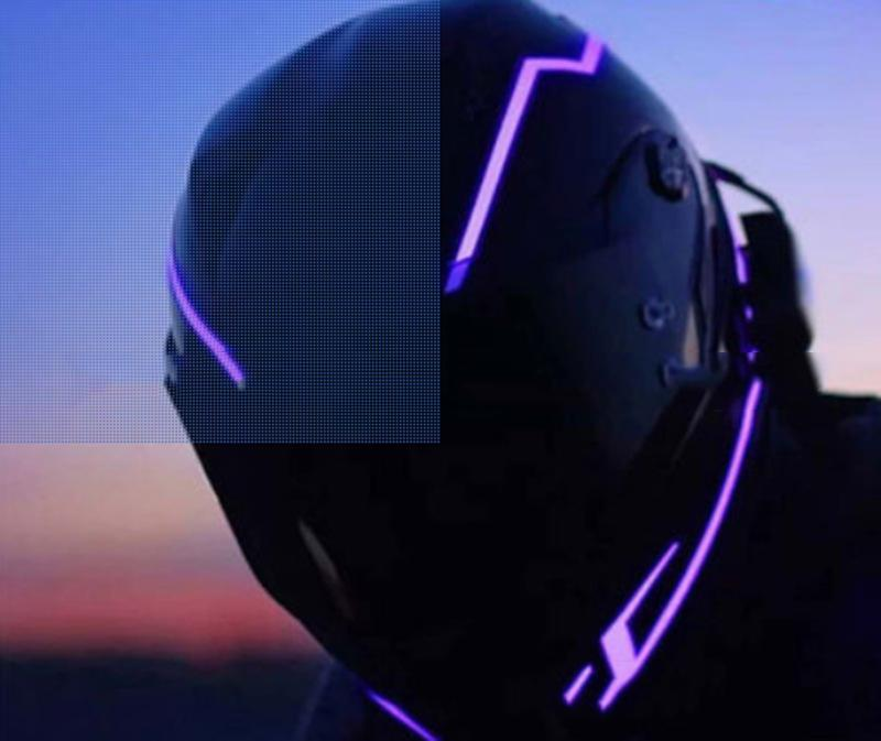 Motorcycle Helmet Light Strip Led Motorcycle Helmet Night Signal Light Luminous Stripe Fashion Modified Glowing Bar Scooter Helmets Online Scorpion