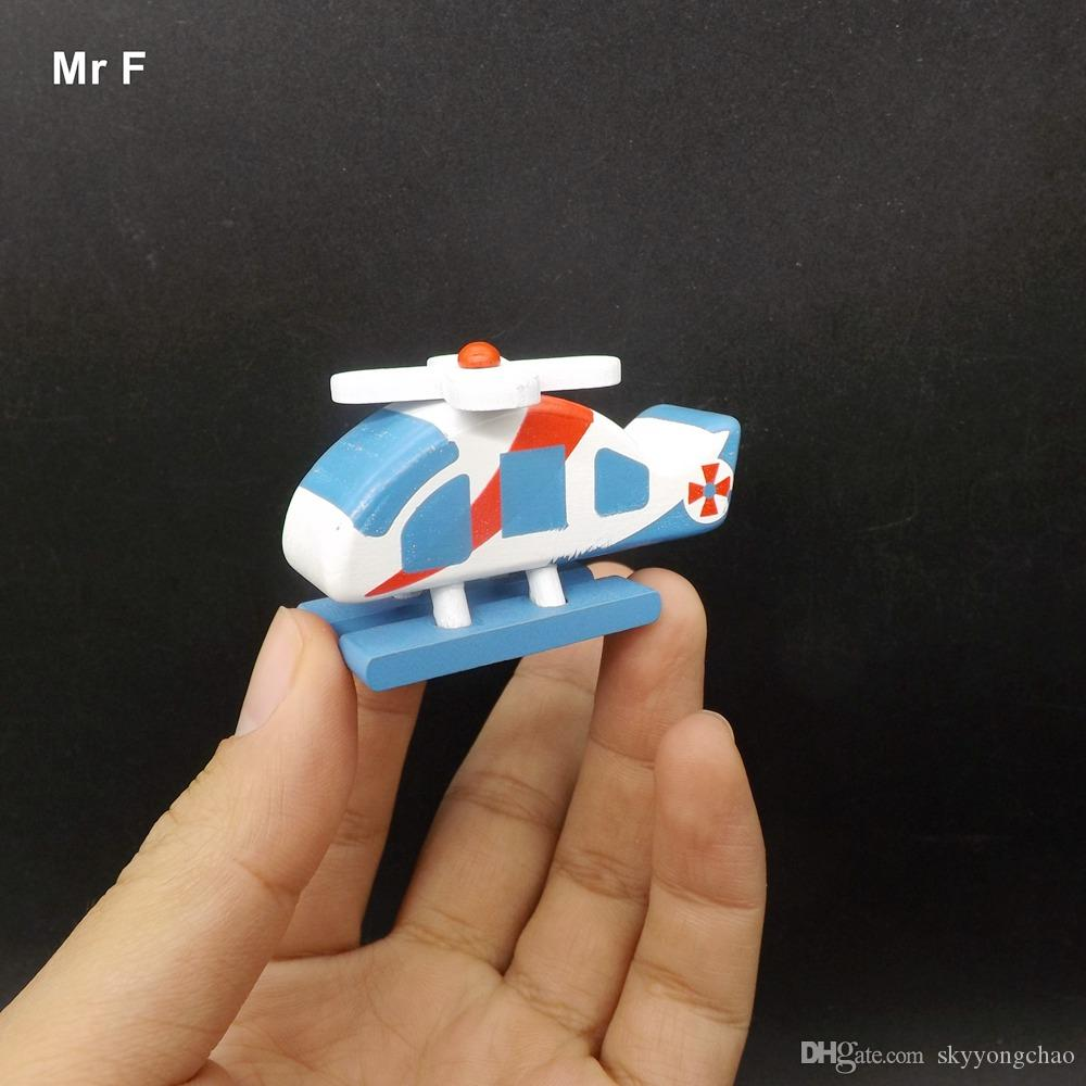 Airplane Model Gift Helicopter Toy Wooden Decoration Artificial Accessories Children Game Gift Christmas Intelligence Educational Mind Game