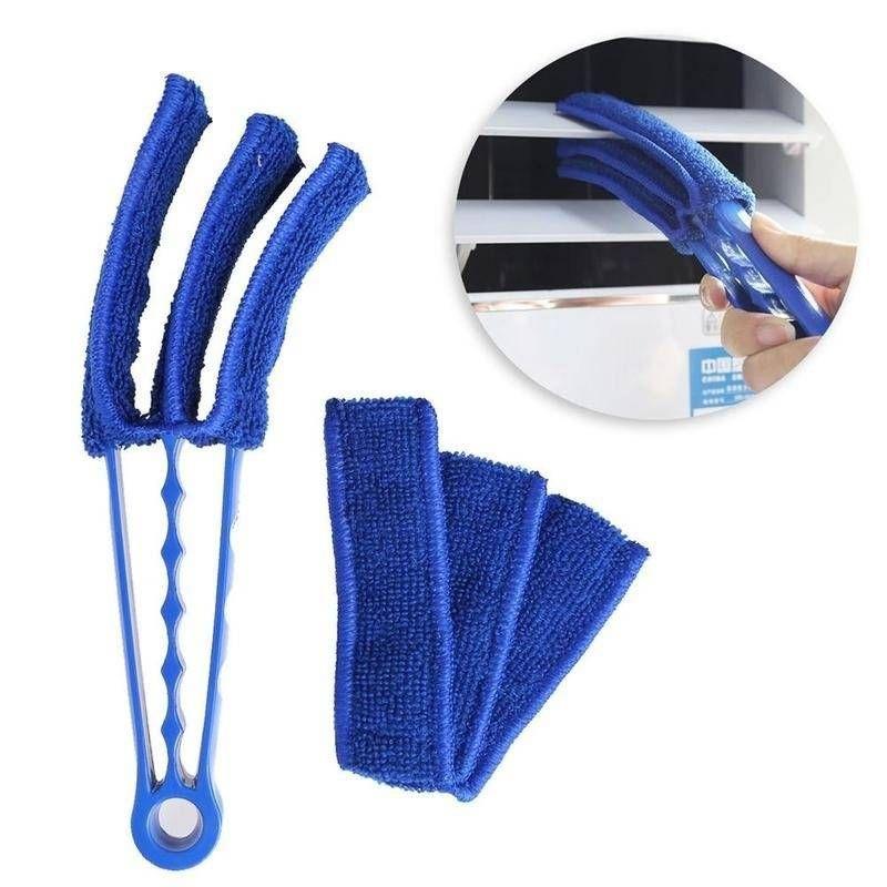 Air Vent escova Universal microfibra Triplo persiana limpador de janelas escova escova de limpeza Duster sujeira removedor ferramenta de limpeza gap