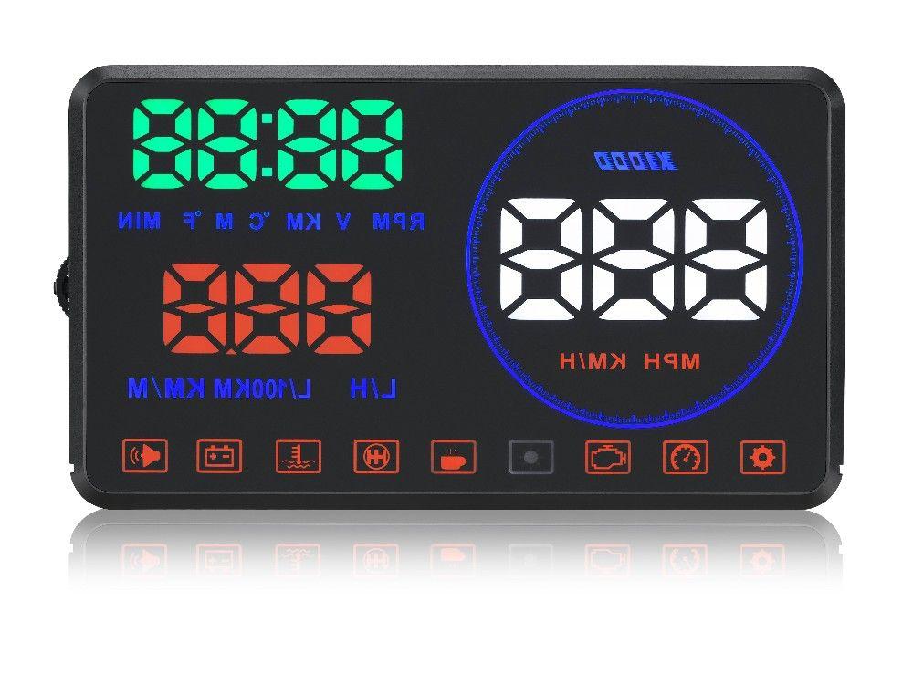 Nova atualização HUD 5.5 polegadas OBD II projetor de carro HUD head up display com placa de reflexão