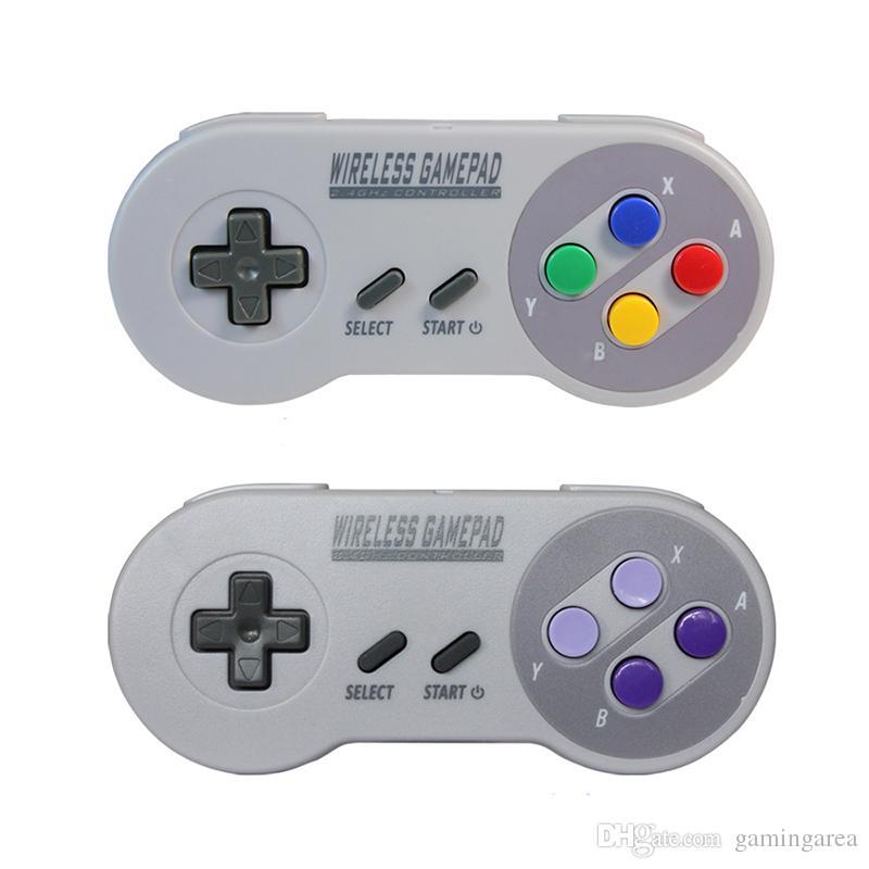 2,4 GHz Wireless Controller Gamepad Joystick mit Retro USB Empfänger für Super NES SNES Classic Edition Mini Joypad DHL EMS VERSANDKOSTENFREI