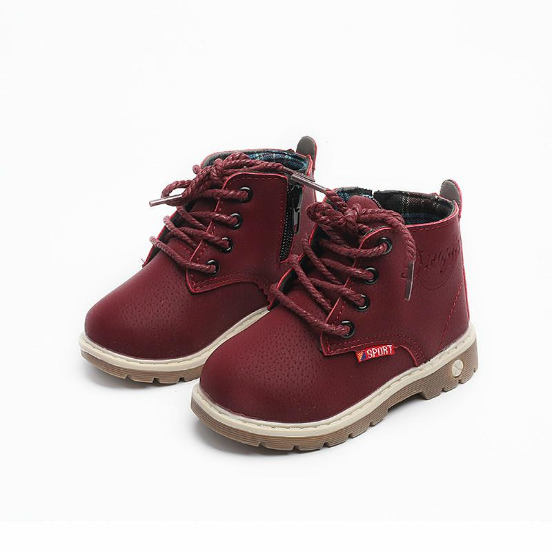 Spring Autumn Boys Sports Toddler Girls Boots Kids Shoes Children Boys Girls Martin Boots Handmade Leather Boots Baby Boys Girls Shoes
