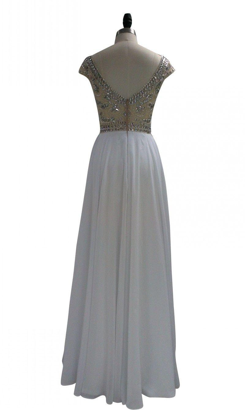 Elegent  Formal Chiffon Floor Length evening Ball Gown Party Prom Wedding Brides