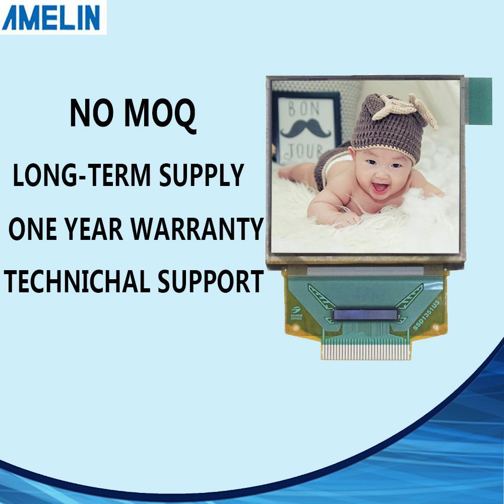 Spedizione gratuita display LCD OLED da 1,5 pollici 128 * 128 risoluzione con schermo quadrato amoled e pannello IC SSD135 da shenzhen amelin