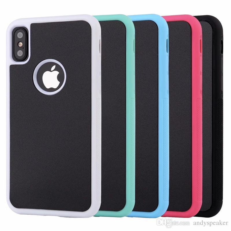 Custodia protettiva per iPhone X anti-gravità Custodia protettiva per PC magica adsorbita + Custodia colorata per materiale TPU 50 pezzi / su