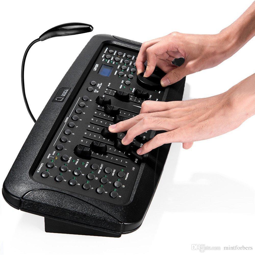 192 canais DMX512 DMX512 Stage Light Controlador DMX com Joystick para DJ Luzes, Lasers, Moving Head Par Luz, Moving Heads, Pubs, Night Clubs