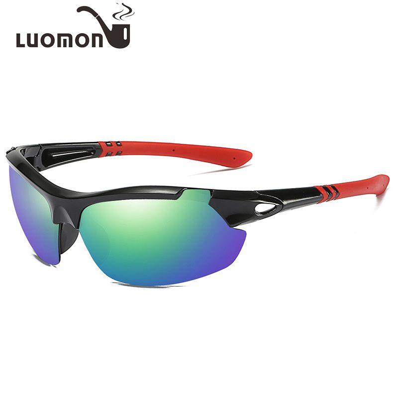 LUOMON Gafas de sol deportivas Gafas de conducción al aire libre Gafas de sol brillantes para hombres Gafas anti-viento Arena gafas de sol polarizadas