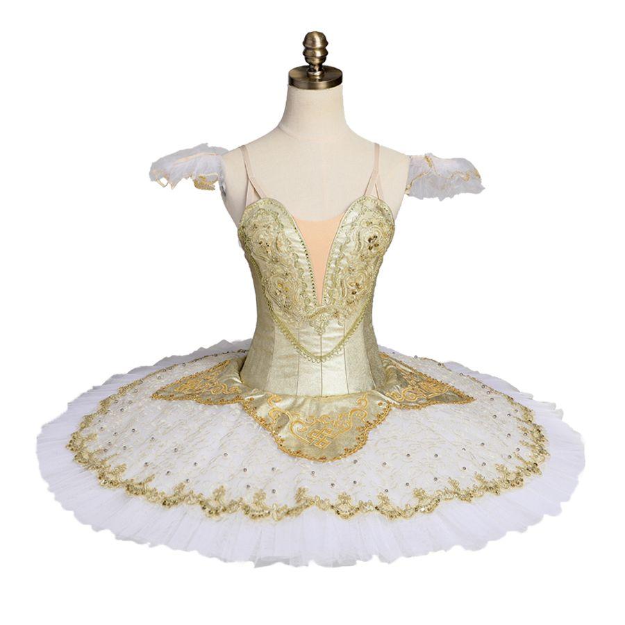 großhandel erwachsene professionelle ballett tutu kostüm gold ballerina  pfannkuchen tutu rock frauen leistung klassische ballett kostüm dressbt9051