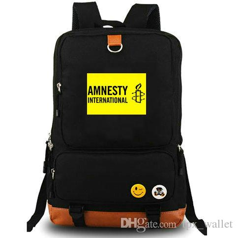 Amnesty International backpack Peace wish daypack Symbol schoolbag Casual style rucksack Sport school bag Outdoor day pack