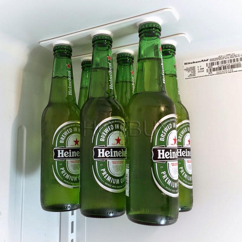 Magnétique Support pour 6 bouteilles de bière Réfrigérateur conservation boissons