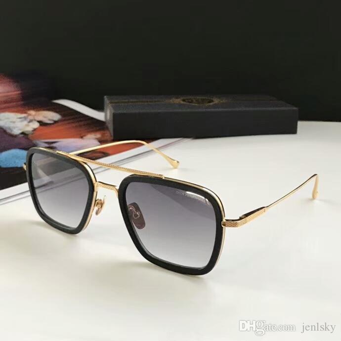 Piloto quadrado óculos de sol ouro / cinzento gradiente Sonnenbrille occhiali da sola mens sunglasses vintage óculos de primeira qualidade wth box
