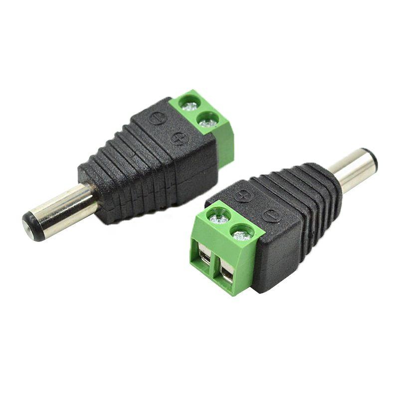 20 PC 5.5x 2.1mm DC-Energie männlicher Jack-Stecker-Adapter-Verbindungsstück für CCTV-Kamera-Spg.Versorgungsteil