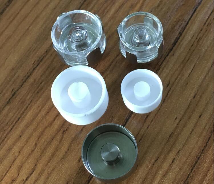 100% Quartz céramique titane Nail 12mm 16mm 510Nail Atomizer Vaporisateur Vaping 510nail Wax Vape bobine rob de chauffage en céramique pour Vaporisateur ECUBE