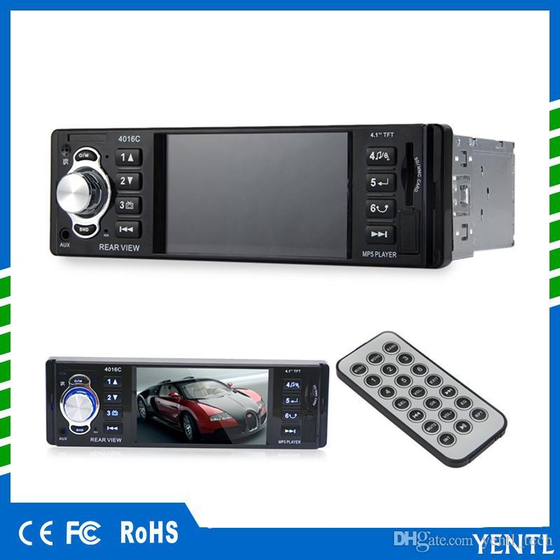 Freies Verschiffen LCD-Anzeigen-Audio-Video PIn-Schlag MP5 Auto-Spieler 1 Din 4.1 Zoll-Auto-Video-Multimedia-Spieler FM Radio MP3 MP4 DVD USB SD AUX