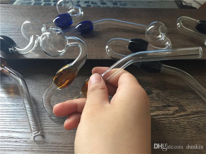 Tubos de vidrio curvados de calidad SUPERIOR La serpiente tiene gusto de los tubos de agua de vidrio Quemadores de aceite del tubo del burbujeador