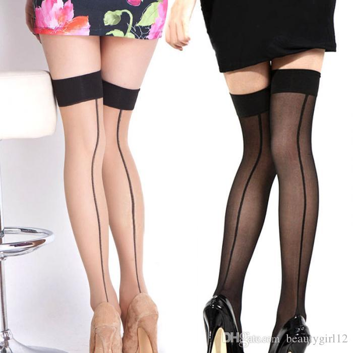 Summer Women Thigh High Stocking Over The knee Socks Sexy Hosiery Stay Up Stockings