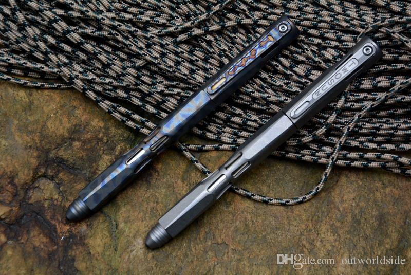 TWO SUN titanium Drill Rod táctico anodic pen acampar caza al aire libre supervivencia práctica EDC MULTI utilidades bolígrafos herramientas