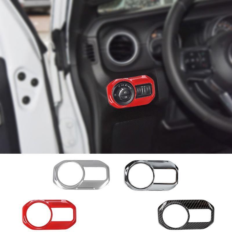 Автомобильная фара кнопка переключения лампы украшения крышки наклейки для Jeep Wrangler JL 2018 + Заводская розетка высокое качество авто аксессуары для интерьера