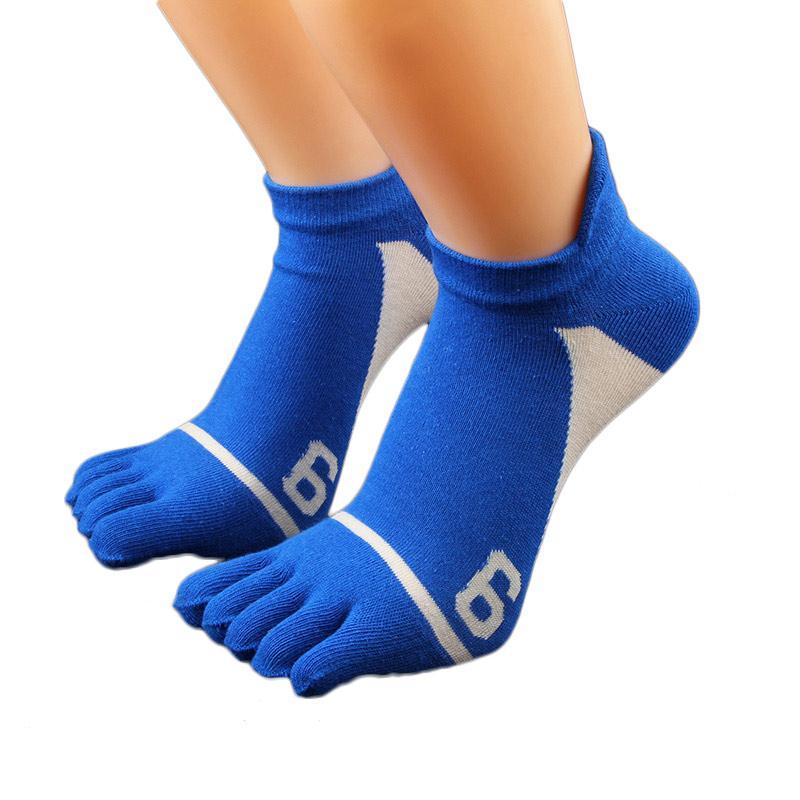 5 paia Nuovi calzini da uomo in cotone Five Finger Socks Casual Toe Calzini traspiranti calzetini caviglia calze
