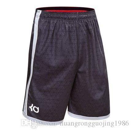 NOUVEAU 2018 Sports de plein air KD short de sport Active running At Knee High poche élastique basket-ball lâche hommes plus la taille M-3XLHOT