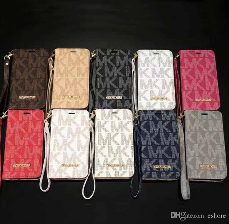 Luxo phone case para iphone x xs max xr 8 7 6 s além de virar carteira de couro shell capa para samsung galaxy s9 s8 s7 s6 borda nota 8 5