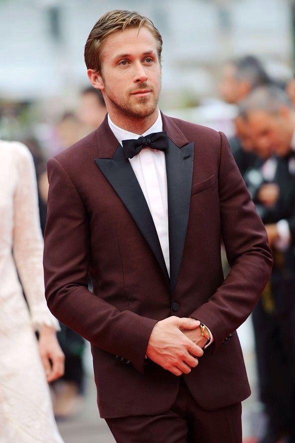 Wine Red Burgundy Men Suits 2018 Wedding Black Peaked Lapel Handsome Groom Tuxedos Slim Fit Best Men Blazer 2 Pieces (Jacket +Pants)