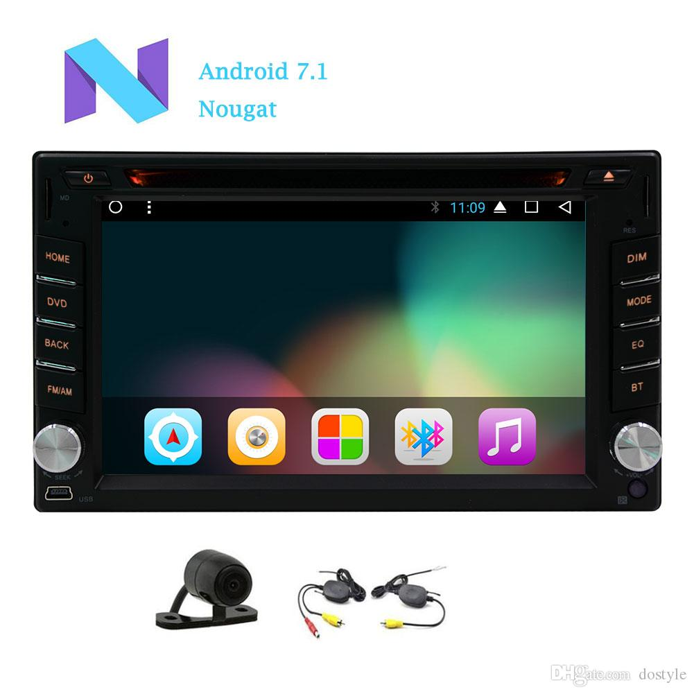Android 7.1 Car DVD cd Player 2GB+32GB Wifi Screen Mirror in dash car Radio Auto video Bluetooth Car Deck GPS Navigation MAP