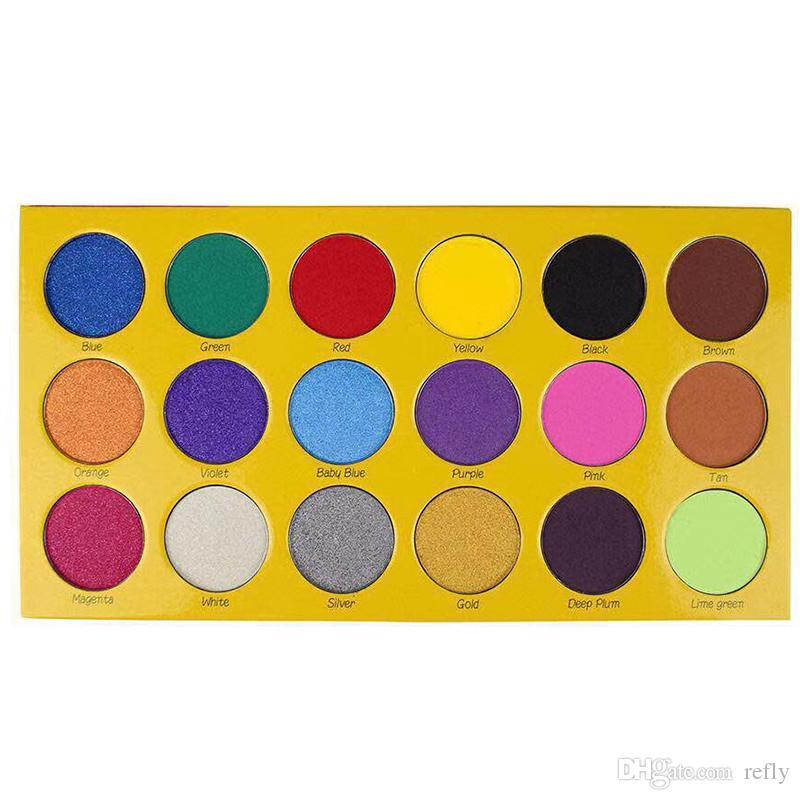 أحدث ماكياج لوحة مربع من الطباشير ظلال العيون ظلال لوحة 18 ألوان ماتي لامع عينيه لوحة التجميل شحن مجاني