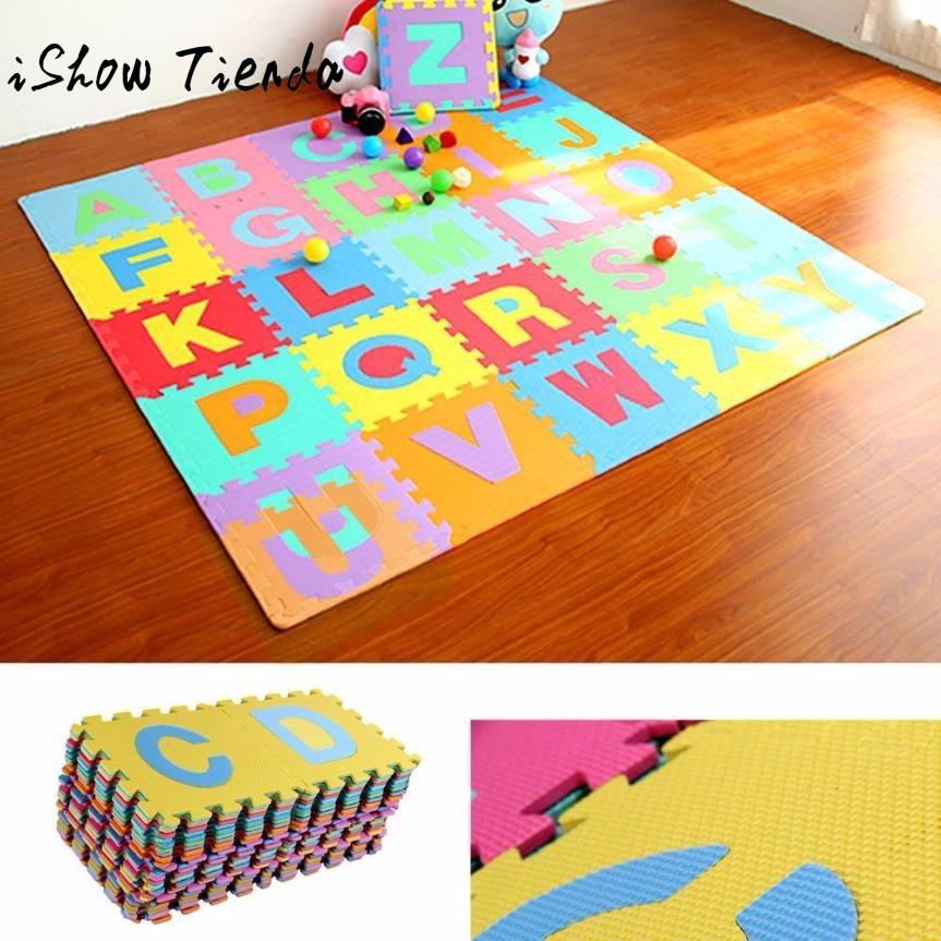 36pcs LARGE Alphabet Numbers EVA Floor Play Mat Baby Room Jigsaw ABC schiuma Puzzle Tapis De Lettre