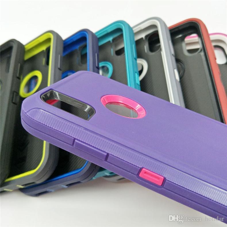 Последний ударопрочный для iPhone телефон случае pc + TPU гибридный защитник телефон случае полный обернутый защитный 3в1 для Iphone Xs max case