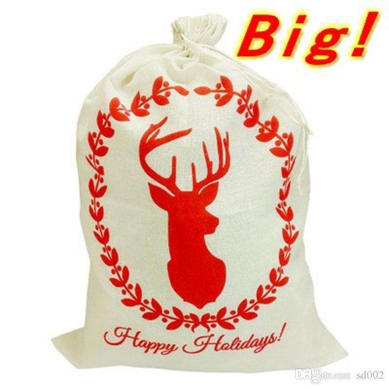 Boże Narodzenie Oryginalność Pakiet Pocket Duża Pościel Prezent Bag Dla Dzieci Wesołych Świąt Wakacje Torby Sznurków Bestsellery 9 5YF WW
