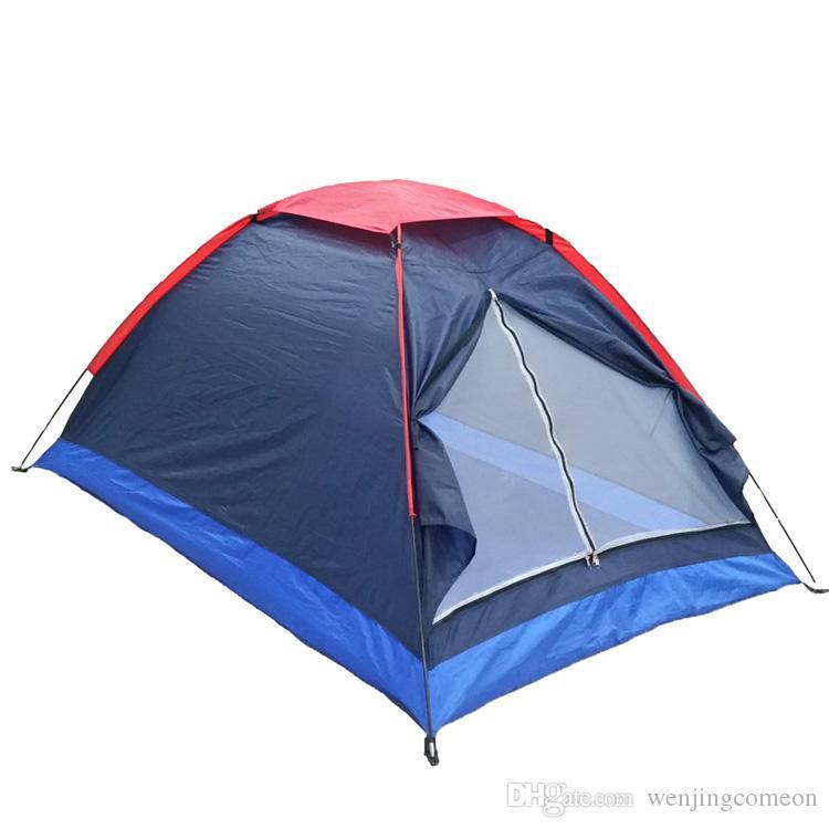 두 사람 비치 텐트 자외선 저항 야외 캠핑 텐트 비치 키트 단일 레이어 낚시 텐트가 하이킹에 대 한 운반 가방