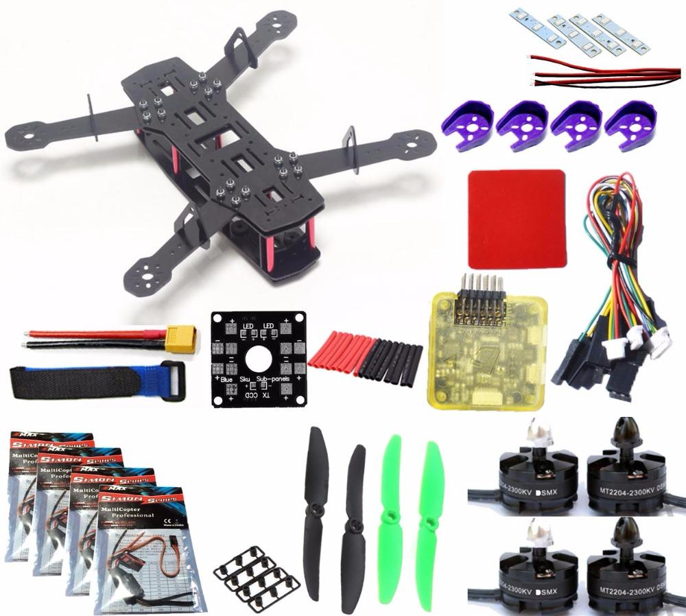 QAV250 Frame Quadcopter kit Mini 250 FPV RC Glass Fiber H250 Drone Frame Kit with Power Distribution Board pdb board for ZMR250