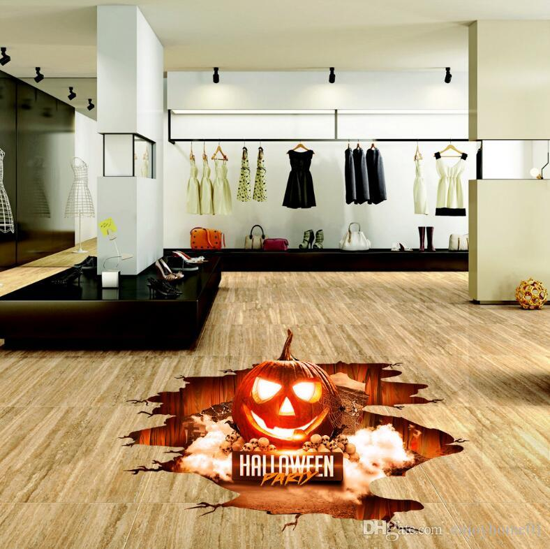 90*30 CM Halloween Decoration Pumpkin 3D Wall Sticker Removable Wall Decals Party Art Home Decor Living Room Bedroom Wall Stickers Wallpaper