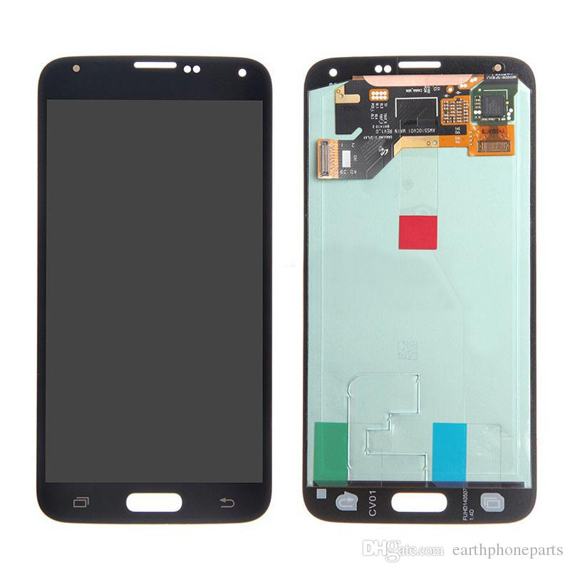 Display LCD Touch Screen Digitizer Assembly per Samsung Galaxy S5 i9600 G900 G900F G900H Parti di ricambio Nuovo