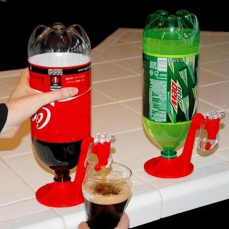 Nova Moda Criativa Bar Em Casa Coca-Cola Refrigerante Refrigerante Drink Drill Saver Dispense Dispenser Torneira Vermelho